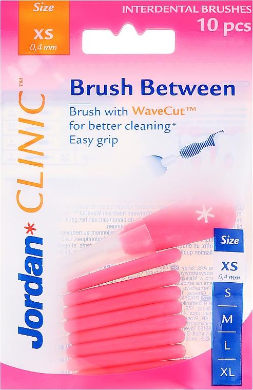 Interdental Brush, 0,4 mm XS, 10 pcs - Jordan Interdental Brush