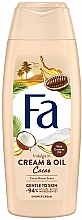 """Fragrances, Perfumes, Cosmetics Shower Cream-Gel """"Cacao Butter & Coconut"""" - Fa Cacao Butter And Coco Oil"""