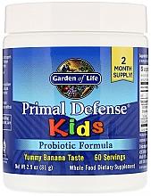 Fragrances, Perfumes, Cosmetics Probiotic Formula with Banana Taste - Garden of Life Primal Defense Kids Probiotic Formula