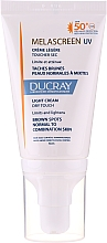 Fragrances, Perfumes, Cosmetics Anti Dark Spot Light Cream for Normal & Combination Skin - Ducray Melascreen UV Light Cream SPF 50+