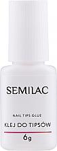 Fragrances, Perfumes, Cosmetics Nail Tip Glue with Brush - Semilac Nail Tip Glue