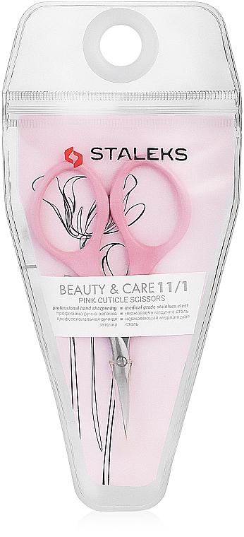 Pink Cuticle Scissors, SBC-11/1 - Staleks Beauty & Care 11 Type 1