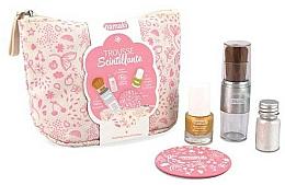 Fragrances, Perfumes, Cosmetics Set - Namaki Glitter Kit (polish/7.5ml+nail/powder/7g+brush+mirror+acc)