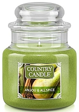 Fragrances, Perfumes, Cosmetics Scented Candle in a Jar - Country Candle Anjou & Allspice