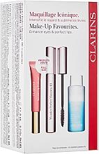 Fragrances, Perfumes, Cosmetics Set - Clarins Wonder Perfect Mascara 4D Set (mascara/8ml + makeup/remover/50ml + lip/gloss/12ml)