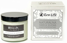 """Fragrances, Perfumes, Cosmetics Scented Candle """"Strawberry and Vanilla"""" - Eco Life Candles"""