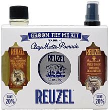 Fragrances, Perfumes, Cosmetics Set - Reuzel Clay Matte Try Me Kit (h/pomade/35g + h/tonic/100ml + shm/100ml)