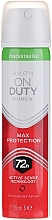 Fragrances, Perfumes, Cosmetics Concentrated Max Protection Anti-Perspirant Aerosol - Avon On Duty Concentrated Max Protection Anti-Perspirant Aerosol 72H