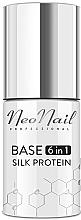 Fragrances, Perfumes, Cosmetics 6-in-1 Gel Polish Base Coat - NeoNail Professional Base 6in1 Silk Protein