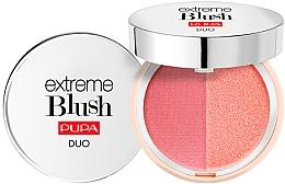Fragrances, Perfumes, Cosmetics Compact Double Blush - Pupa Extreme Blush Duo