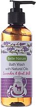 Fragrances, Perfumes, Cosmetics Shower Gel with Lavender Scent and Goat Milk - Belle Nature Bath Wash Lavender&Goat Milk