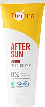 Fragrances, Perfumes, Cosmetics After Tanning Lotion with Aloe Extract - Derma After Sun Lotion Med Aloe Vera