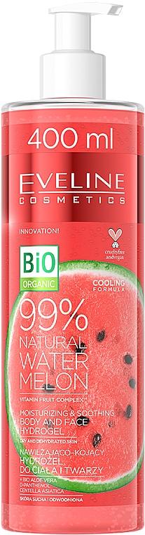 Watermelon Body & Face Hydrogel - Eveline Cosmetics 99% Natural Watermelon