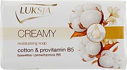 Fragrances, Perfumes, Cosmetics Cream-Soap with Cotton Milk and Provitamin B5 - Luksja Cotton Milk Provitamin B5 Soap