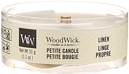 Fragrances, Perfumes, Cosmetics Scented Candle in Glass - Woodwick Petite Candle Linen