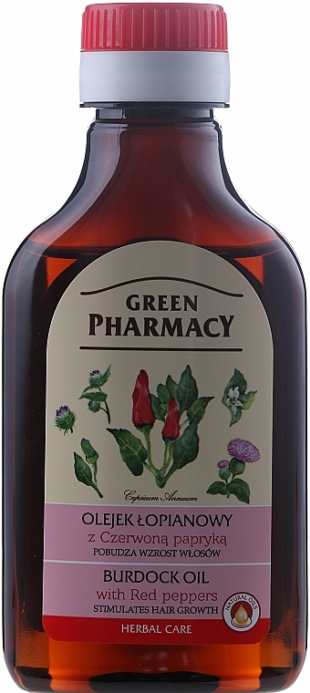 Hair Growth Burdock Oil with Red Peppers - Green Pharmacy