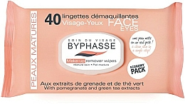 Fragrances, Perfumes, Cosmetics Makeup Remover Wipes - Byphasse Make-up Remover Pomegranate Extract And Green Tea