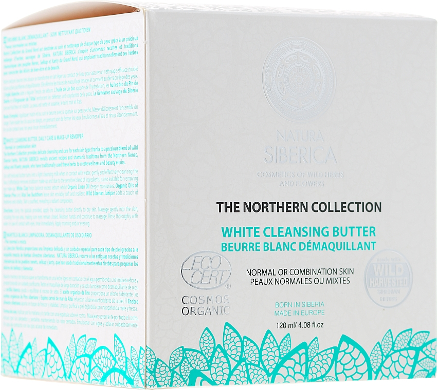 Cleansing Oil for Normal and Combination Skin - Natura Siberica The Northern Collection White Cleansing Butter