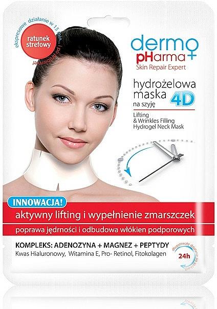 Face Mask - Dermo Pharma 4D Lifting & Wrinkles Filling Hydrogel Neck Mask