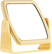 Fragrances, Perfumes, Cosmetics Stand Mirror 85727, square, yellow - Top Choice Beauty Collection Mirror