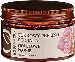 "Fragrances, Perfumes, Cosmetics Sugar Body Peeling ""Violet Peony"" - Bosphaera"