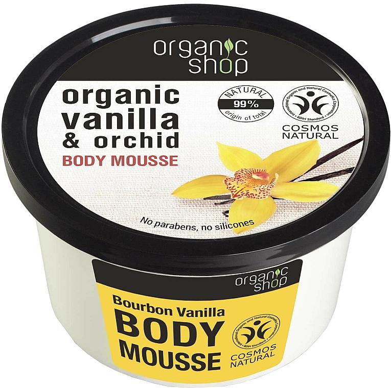 "Body Mousse ""Bourbon Vanilla"" - Organic Shop Body Mousse Organic Vanilla & Orchid"