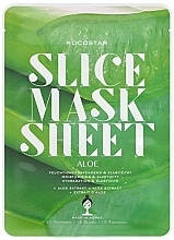 "Fragrances, Perfumes, Cosmetics Facial Sheet Mask ""Aloe Vera"" - Kocostar Slice Mask Sheet Aloe"