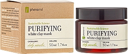 Fragrances, Perfumes, Cosmetics White Clay Mask - Phenome Sustainable Science Purifying White Clay Mask