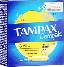 Fragrances, Perfumes, Cosmetics Tampons with Applicator, 8 pcs - Tampax Compak Regular