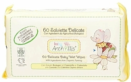 Fragrances, Perfumes, Cosmetics Kids Wet Wipes, 60 pcs. - Anthyllis Cleansing Wipes
