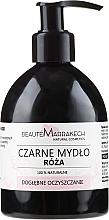 Fragrances, Perfumes, Cosmetics Rose Oil Black Liquid Soap - Beaute Marrakech Rose Black Liquid Soap