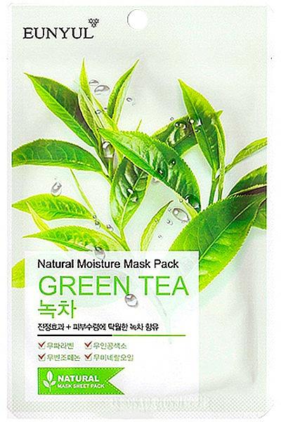 Moisturizing Green Tea Sheet Mask - Eunyul Natural Moisture Mask Pack Green Tea