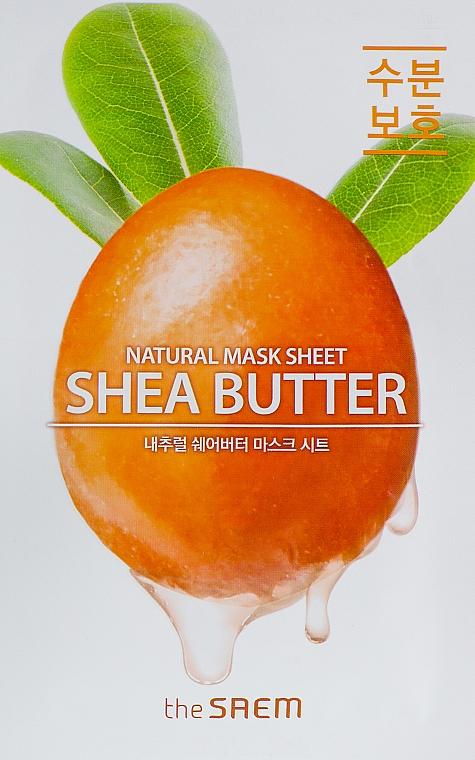 Shea Butter Sheet Mask - The Saem Natural Shea Butter Mask Sheet