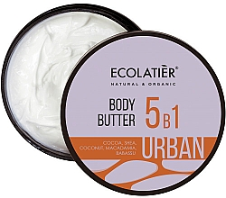 "Fragrances, Perfumes, Cosmetics 5 in 1 Body Butter ""Cocoa, Shea, Coconut, Macadamia, Babassu"" - Ecolatier Urban Body Butter"