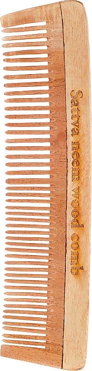 Wooden Hair Comb, 19 cm - Sattva Neem Wood Comb