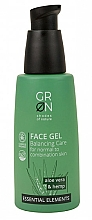 Fragrances, Perfumes, Cosmetics Facial Gel - GRN Essential Elements Aloe Vera & Hemp Face Gel