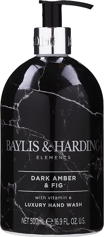 Liquid Hand Soap - Baylis & Harding Elements Dark Amber & Fig Luxury Hand Wash — photo N1