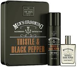 Fragrances, Perfumes, Cosmetics Scottish Fine Soaps Men's Grooming Thistle & Black Pepper - Set (edt/50ml + spray/150ml)