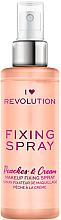 Fragrances, Perfumes, Cosmetics Makeup Fixing Spray - I Heart Revolution Fixing Spray Peaches & Cream