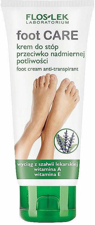 Foot Antiperspirant-Cream - Floslek Foot Cream-Antitranspirant — photo N1