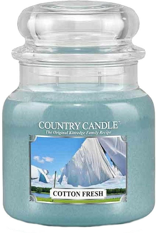 Scented Candle in Jar - Country Candle Cotton Fresh
