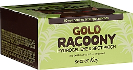 Fragrances, Perfumes, Cosmetics Hydrogel Eye Patches with Gold - Secret Key Gold Racoony Hydrogel Eye Spot Patch