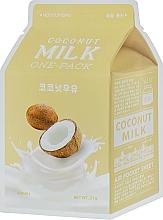 "Fragrances, Perfumes, Cosmetics Sheet Mask ""Coconut"" - A'pieu Coconut Milk One-Pack"