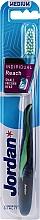Fragrances, Perfumes, Cosmetics Toothbrush with Cap, dark navy-green - Jordan Individual Reach Medium Toothbrush