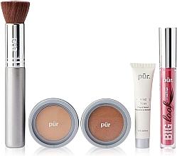 Fragrances, Perfumes, Cosmetics Set - Pur Minerals Best Sellers Starter Kit Light Tan (primer/10ml+found/4.3g+bronzer/3.4g+mascara/5g+brush)