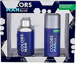 Fragrances, Perfumes, Cosmetics Benetton Colors Man Blue - Set (edt/100ml + deo/150ml)
