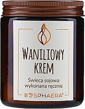 "Fragrances, Perfumes, Cosmetics Scented Soy Candle ""Vanilla Cream"" - Bosphaera Vanilla Cream Candle"