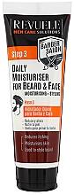 Fragrances, Perfumes, Cosmetics Moisturizing Beard & Face Cream - Revuele Men Care Barber Daily Moisturizer Beard & Face