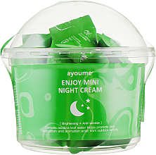 Fragrances, Perfumes, Cosmetics Centella Asiatica Facial Night Cream - Ayoume Enjoy Mini Night Cream