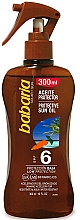 Fragrances, Perfumes, Cosmetics Tanning Oil - Babaria Protective Sun Oil Spf6